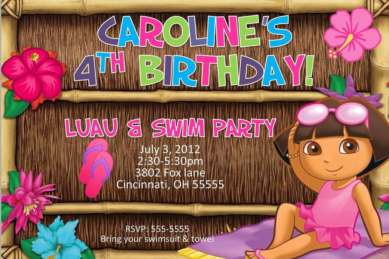 Dora birthday invites kids party ideas pinterest birthdays dora birthday invites filmwisefo Choice Image