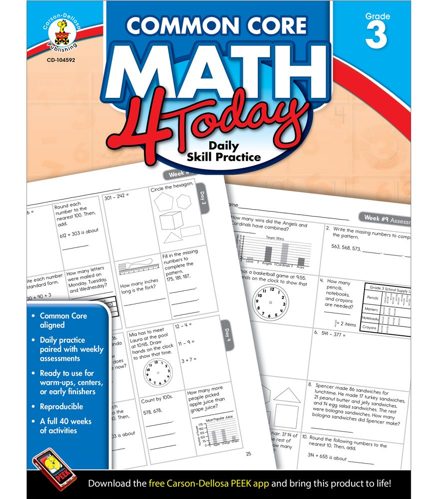Common Core Math4Today Daily Review   they are available for