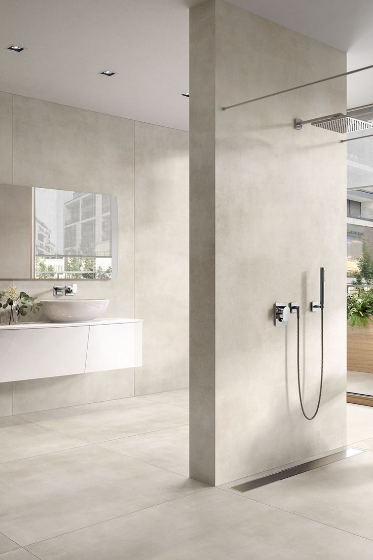 Villeroyandboch Spotlight Optima Bad Badezimmer Badezimmerboden Badezimmerdeko Waschbecken Design Badezimmer Betonoptik