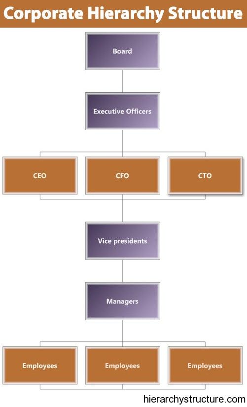 Corporate Business Systems Hierarchy Finance Career