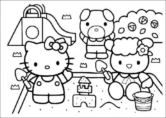 Free Printable Hello Kitty Coloring Pages Picture 21 550x392 Picture ...