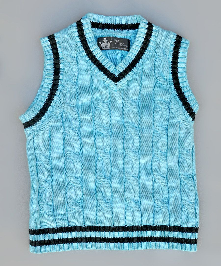 Look at this Teal Cable-Knit Sweater Vest - Infant, Toddler & Boys ...