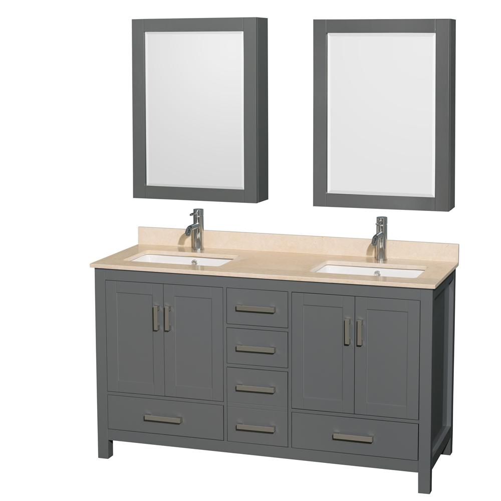 Wyndham Collection Sheffield 60 In W X 22 In D Vanity In Dark