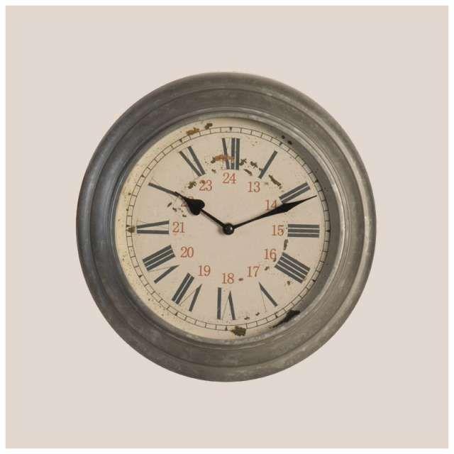 Horloge cuisine zinc deco murale 34 cm esprit cuisine bristro cav elements clock home for Horloge murale style bistrot