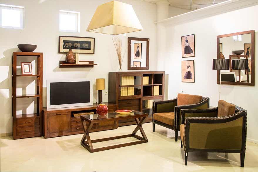 #Muebles de #salon #rustico de madera. #mueblesarria # ...