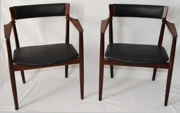 Rosengren Hansen Rosewood chairs. Signed.