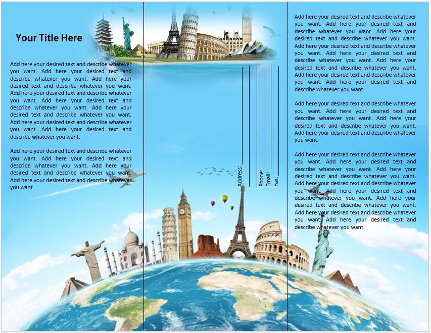 Tourist Brochure Template Travel Brochure Travel