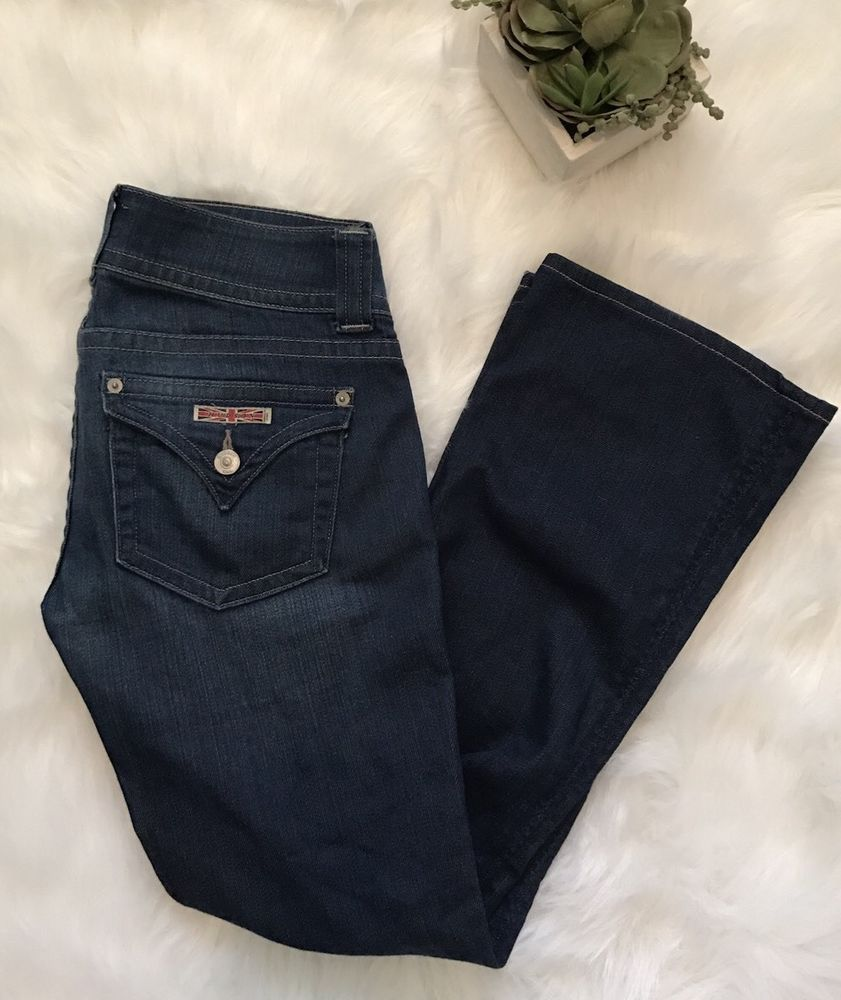 HUDSON Signature Petite Bootcut Flap Pocket Jeans Womens Size 26 X 27    eBay