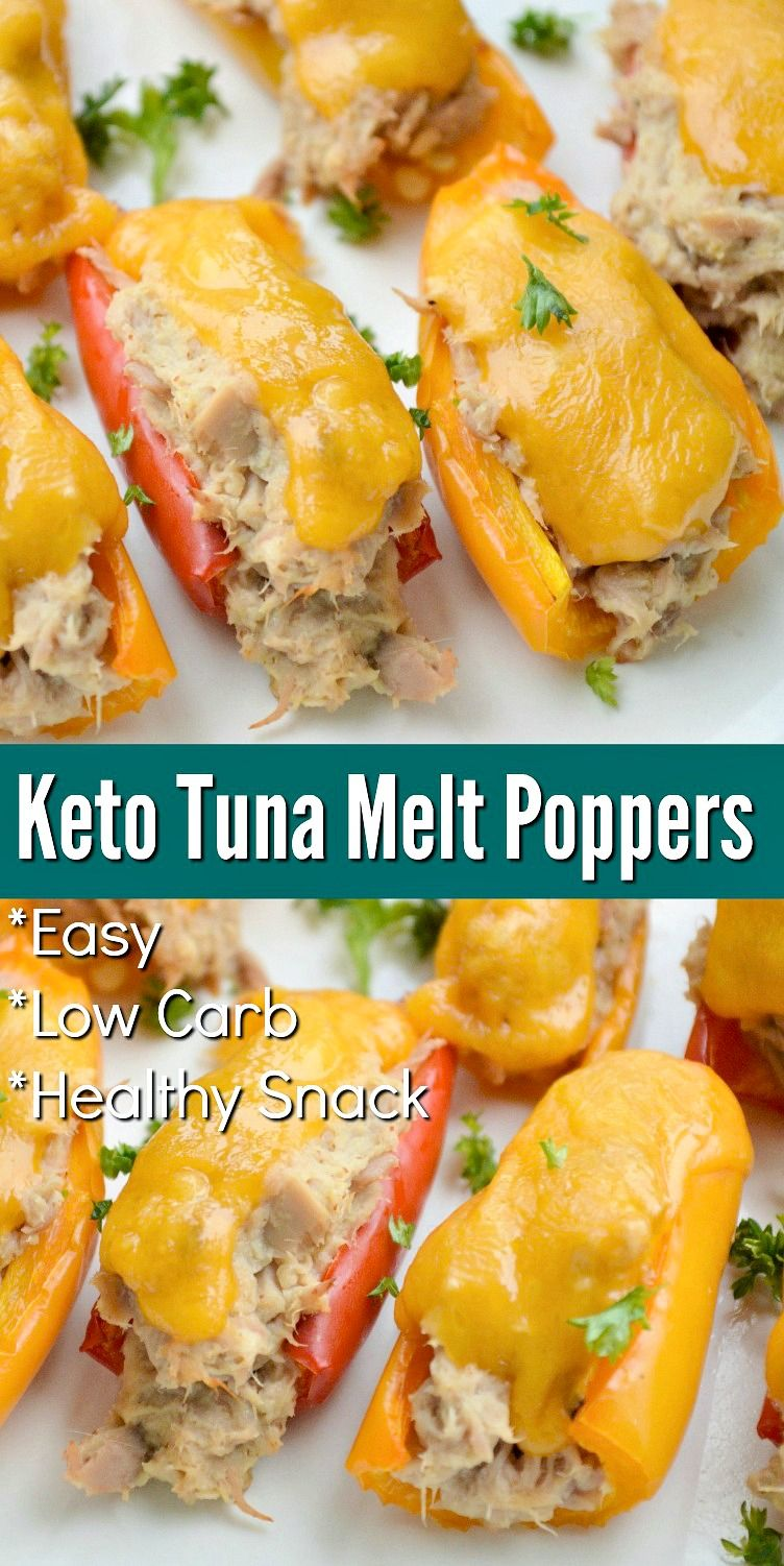 Photo of Keto Tuna Melt Poppers