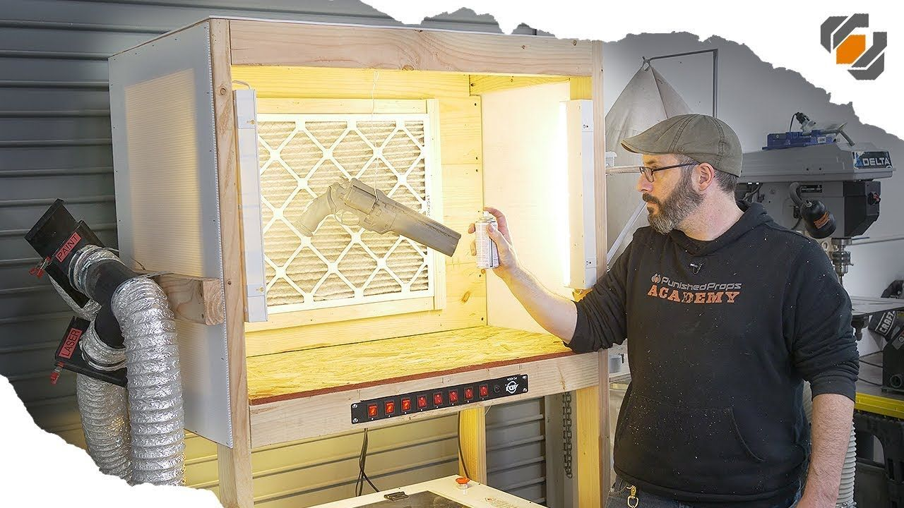 HOW TO Making a Custom Paint Booth with Lights! Paint