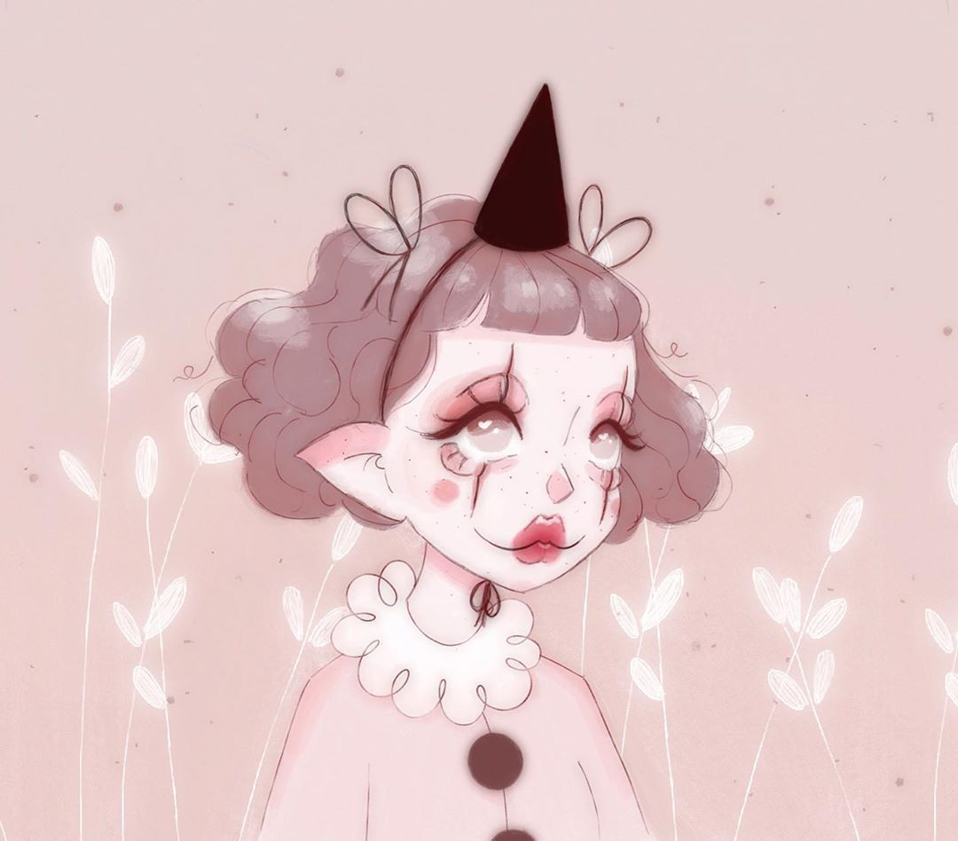 Mel On Instagram Lil Clown Inspired By The Princess Of Autumnal Aesthetic Cozykitsune Hippie Art Cute Art Psychedelic Art