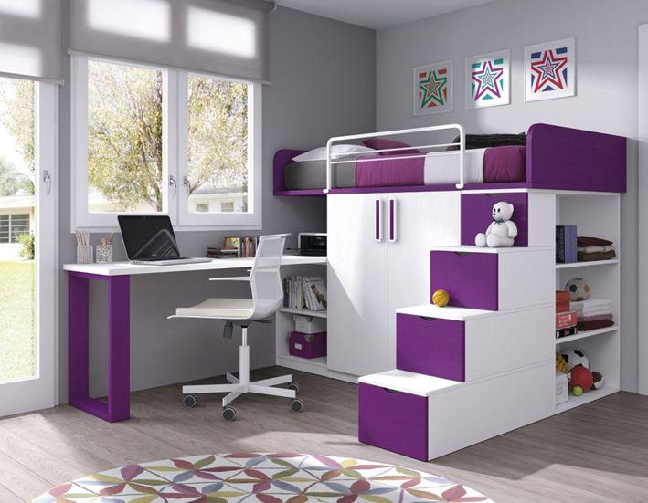 Dormitorio juvenil decoracion de cuartos pinterest - Habitaciones pintadas infantiles ...