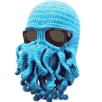 9e5fc723078e6 LOCOMO Tentacle Octopus Cthulhu Knit Beanie Hat Cap Wind Ski Mask FFH135DBLU