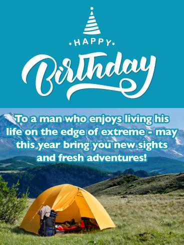 Happy Birthday Dad Birthday Card Hiking On A Mountain