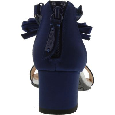 ae80d24aceca5d Badgley Mischka Little   Big Girls Pernia Pearl Bow Dress Shoe - Blue 11