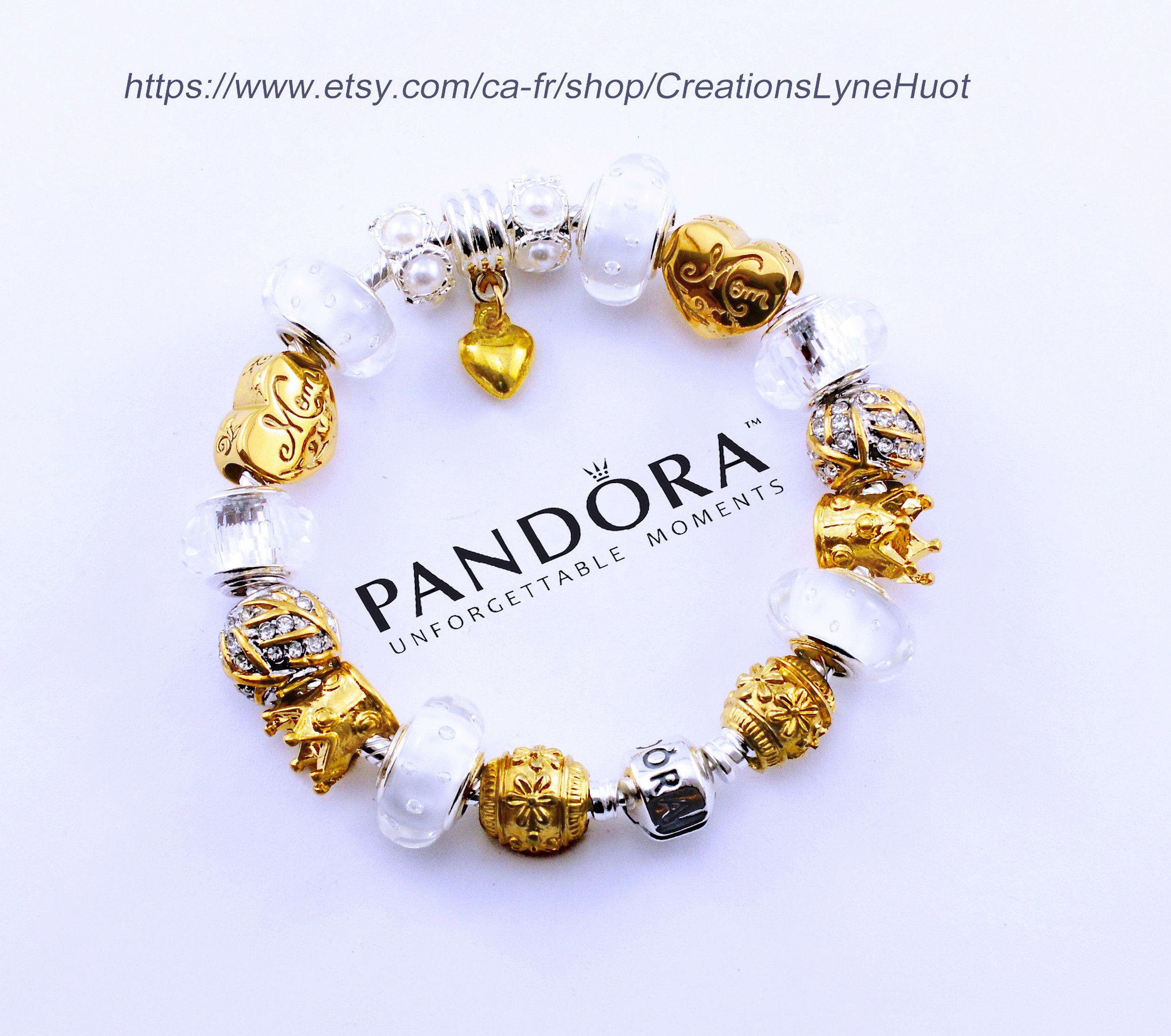 Bracelet PANDORA argent sterling avec charmes -OU- Choisissez un ...