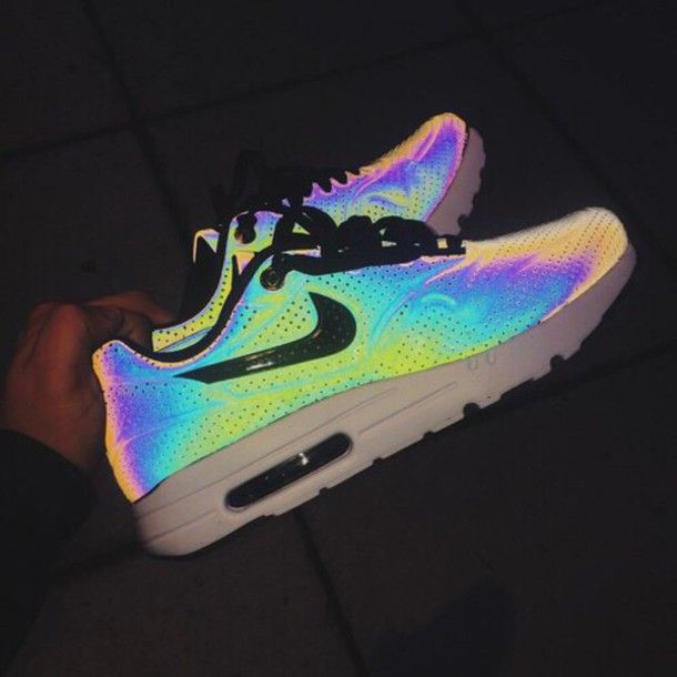 shoes nikes silver sneakers aluminum nike shoes bright neon holographic nike  air max colorful rainbow dope