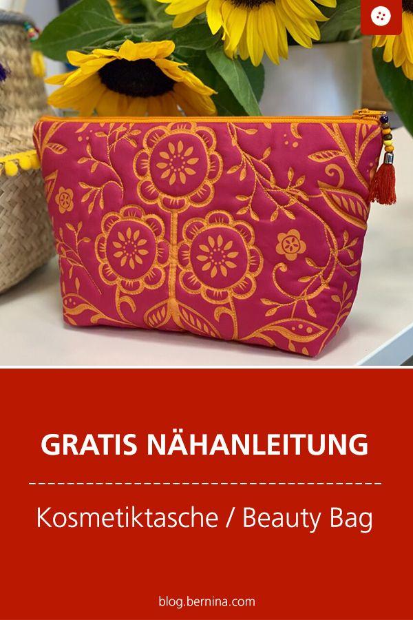 Kostenlose Nähanleitung: Kosmetiktasche / Beauty Bag nähen #stoffresteverwerten