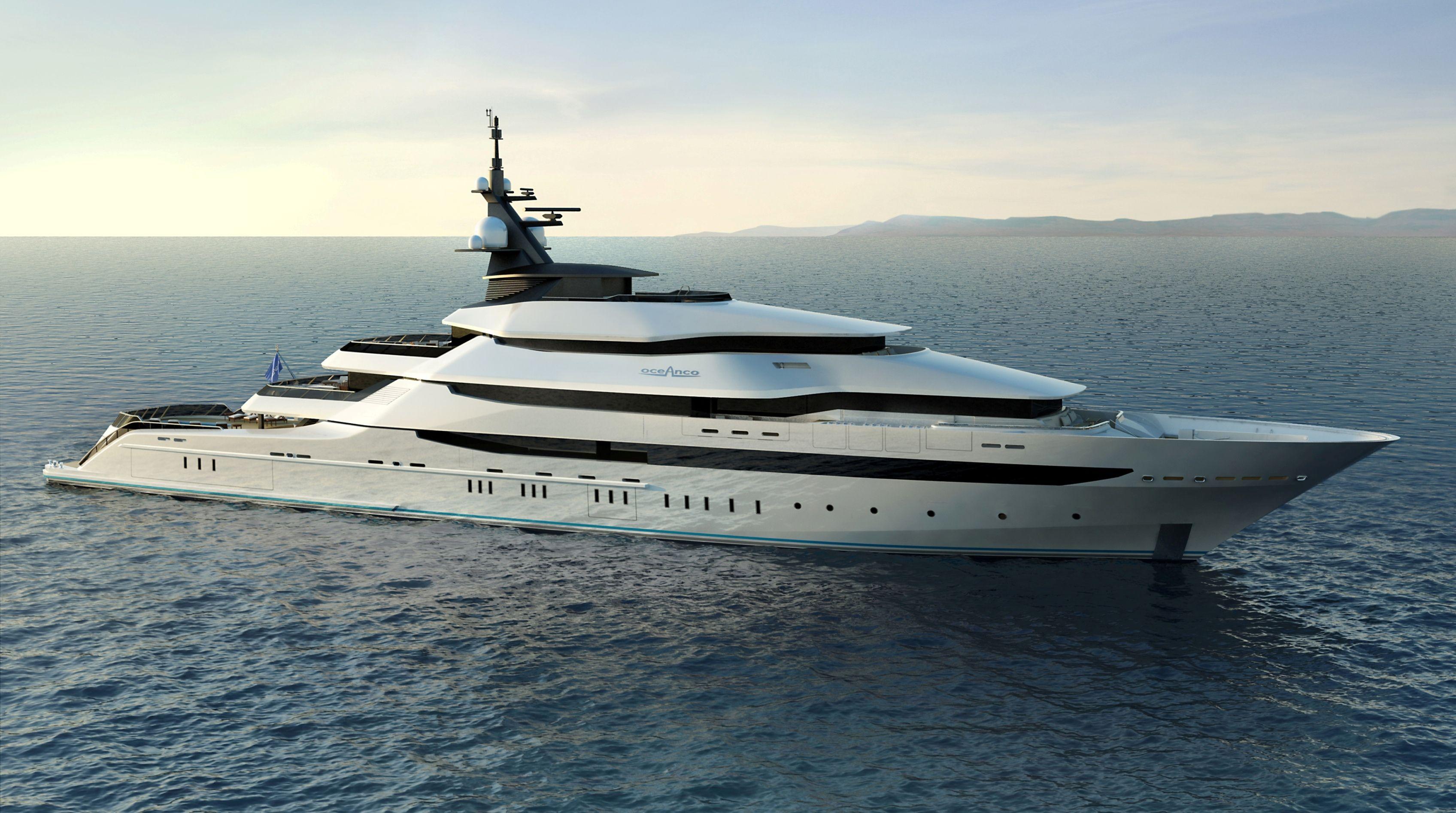 Innenarchitektur Yacht y708 oceanco yacht work interior yachten