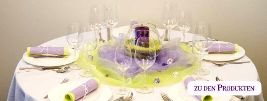 tischdeko runder tisch zartes lila gr n dekoration pinterest. Black Bedroom Furniture Sets. Home Design Ideas