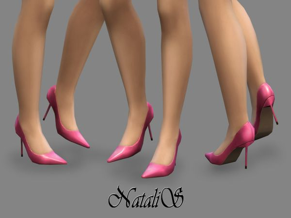 The Sims Resource: Leather pumps v-2 by NataliS • Sims 4 Downloads