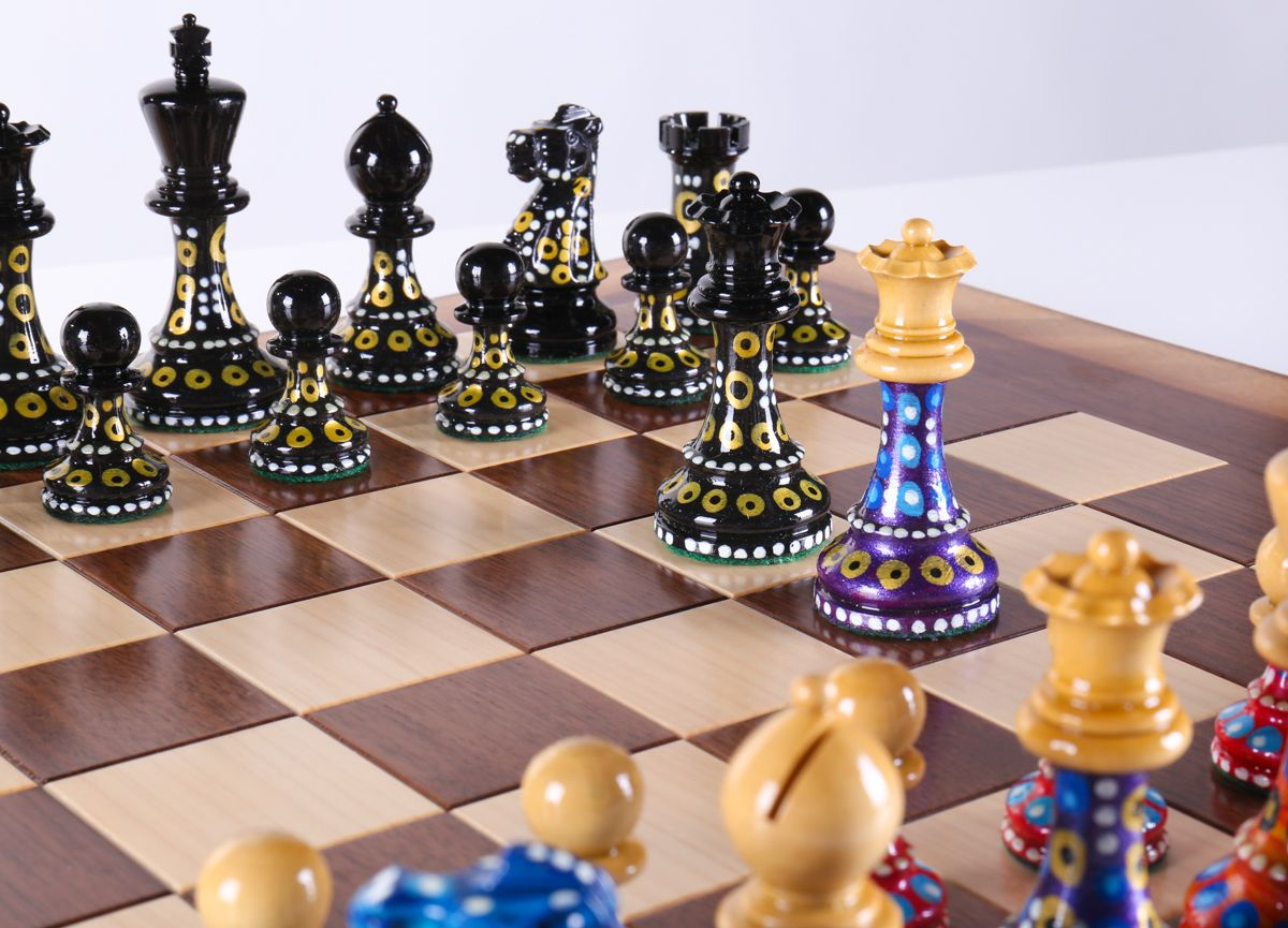 Alchemy Artist Sydney Gruber Displays Her Talent On The Chess Board In This  Dazzling Grandmaster Style Chess Set Thatu0027s Paired With A One Of A Kind, ...