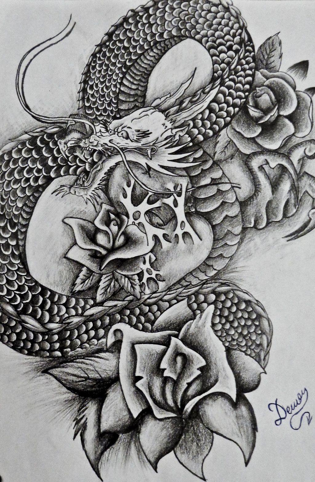Japanese Dragon By Dtattwoiantart On @deviantart