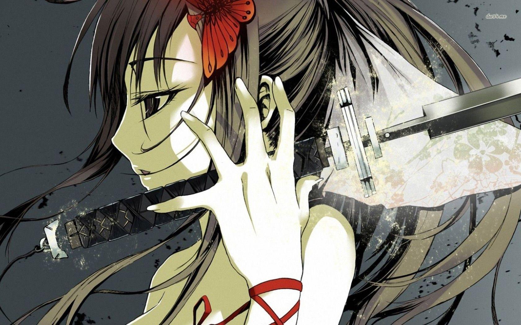 Anime girl with katana katana girl wallpaper 1280x800 - Girl with sword wallpaper ...