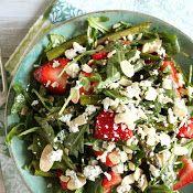 Srawberry, Asparagus, Spinach Salad