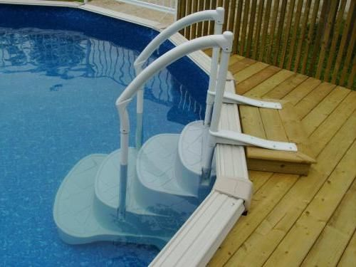above ground pool steps for decks