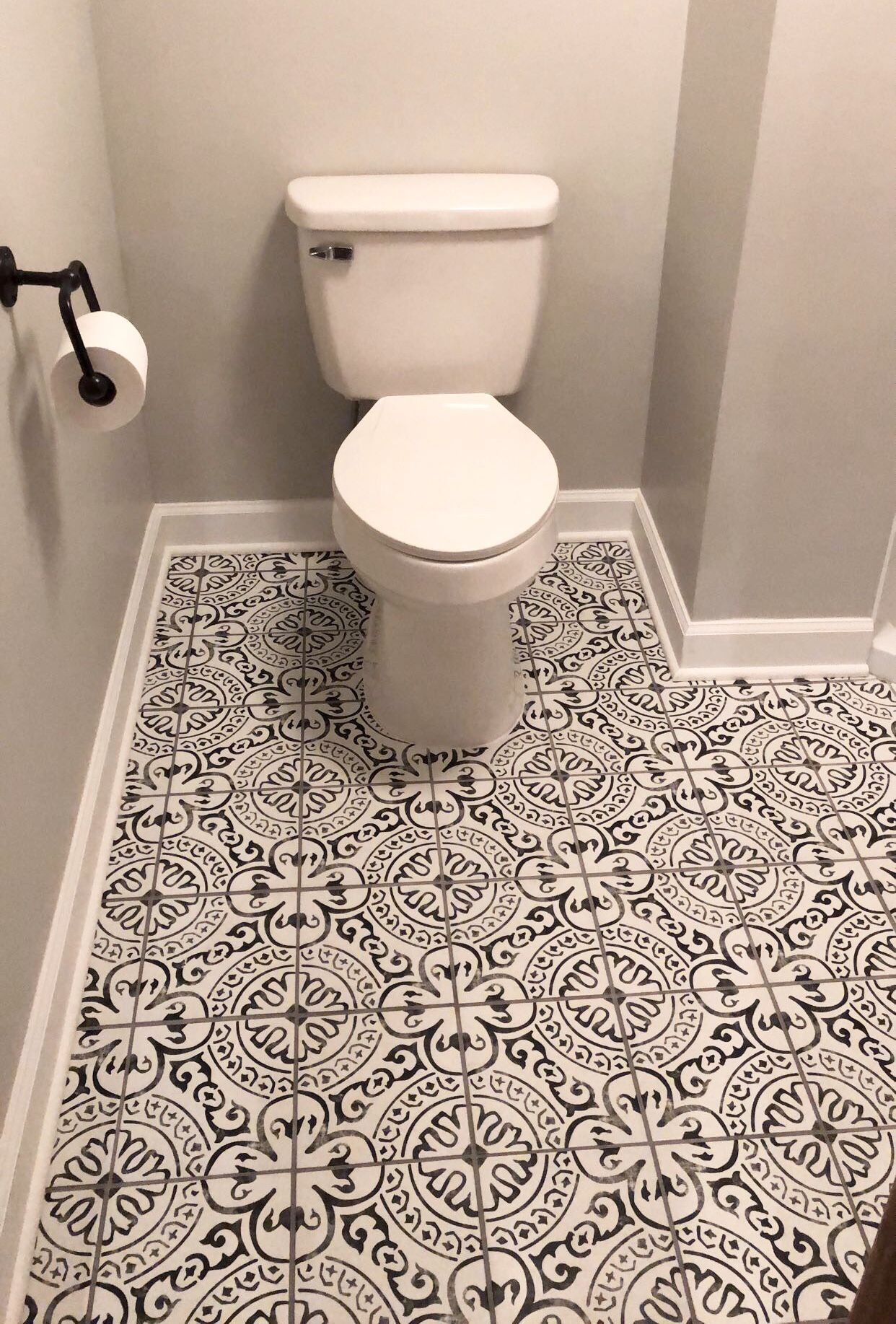 Paloma Porcelain Tile Flooring Small Bathroom Makeover Patterned Bathroom Tiles
