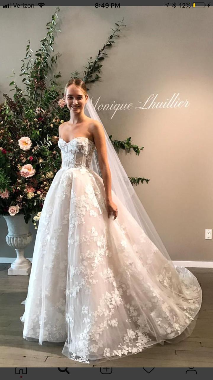 Photo of Monique Lhuillier Easton – Fall 2019 Line Wedding Dress | New, Size: 10, $8,499