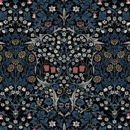 BLACKTHORN Wallpaper Teal in 2020 William morris