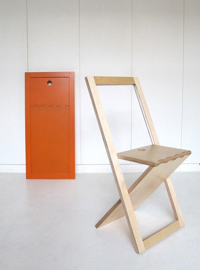 Woodmood La Chaise Pliante By Mathieu Camillieri Chaise Pliante Chaise Pliante Design Tabouret Pliant
