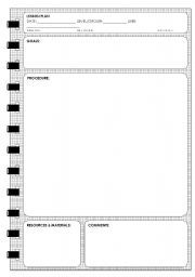 English Worksheet Lesson Plan Template  Education
