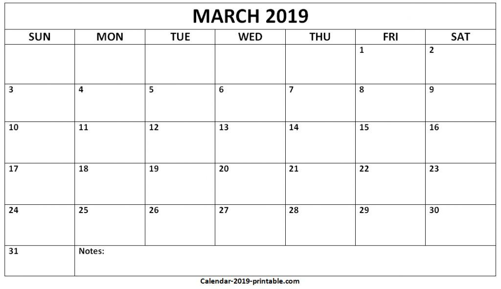 Editable March 2020 Calendar Template In Pdf Word Excel With