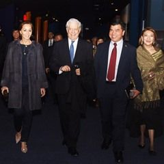Isabel Preysler and Mario Vargas Llosa at Madrimana Internacional Festival