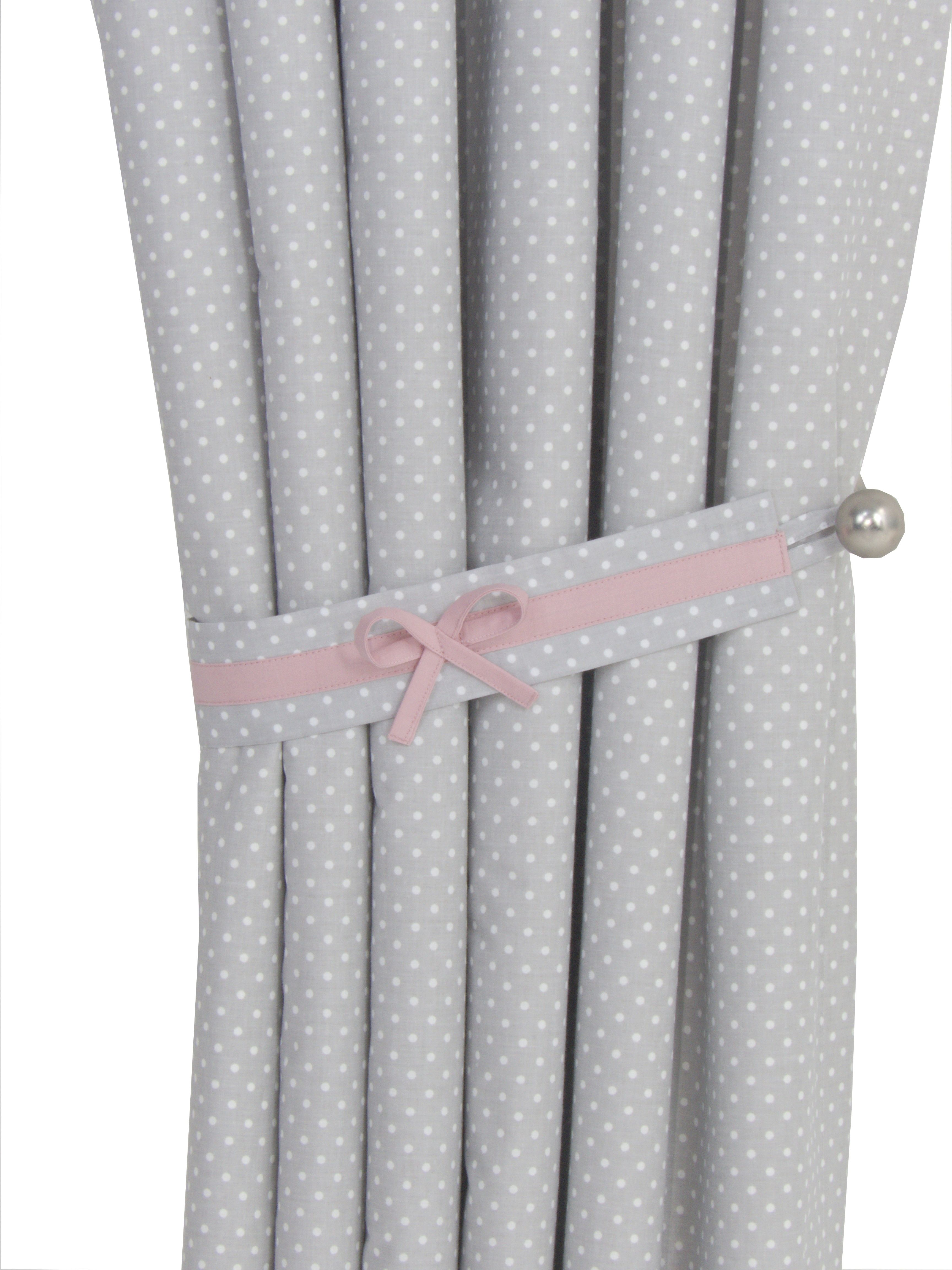Cute Grey Pink Blackout Curtains For Baby Nursery Blush Pink