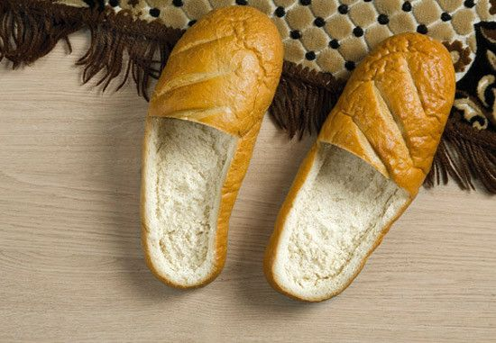 I bet it'd feel great to slip your feet into Bread slippers
