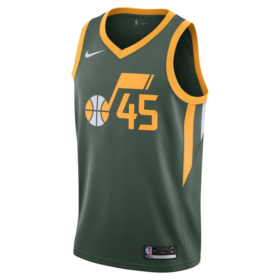 half off f1f0e 74860 Donovan Mitchell Earned City Edition Swingman (Utah Jazz ...