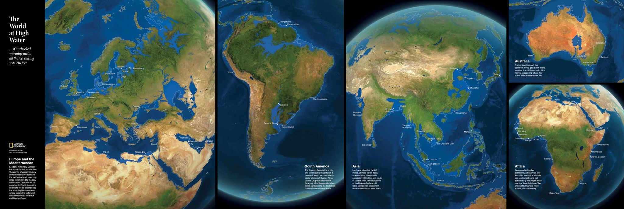 IF ALL THE ICE MELTED Map Showing How The Continents Would - Map of us if all the glaciers melted
