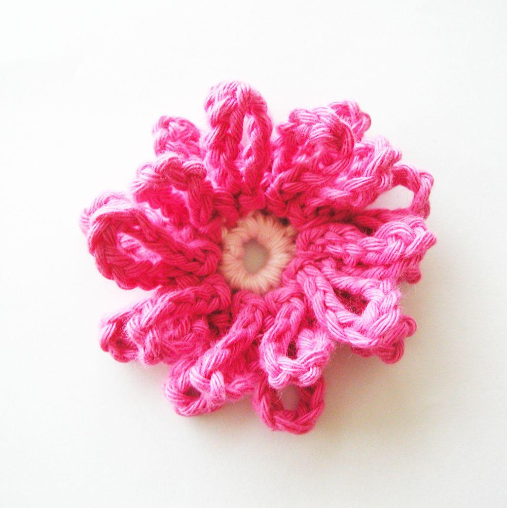 Crochet flower (free pattern). | fiori uncinetto | Pinterest ...