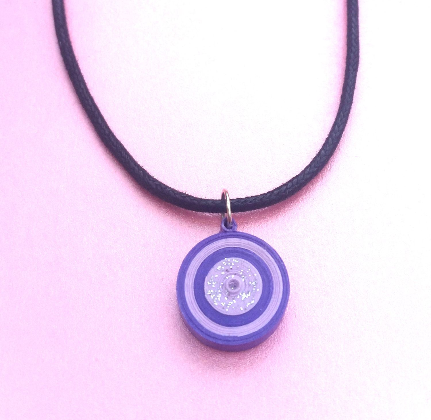 Purple pendant necklace purple quilled necklace paper quilled purple pendant necklace purple quilled necklace paper aloadofball Gallery