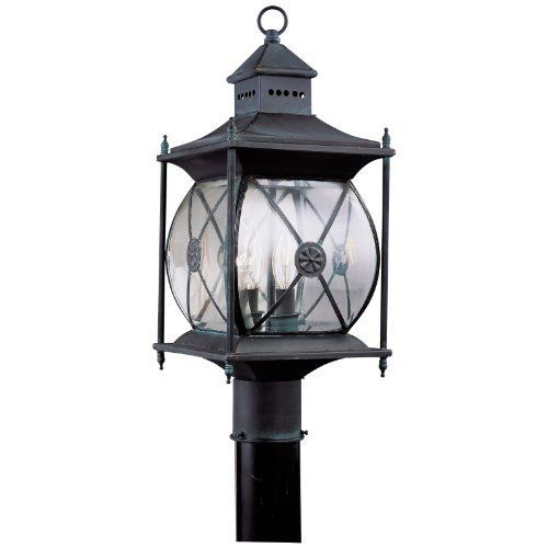 Livex Providence Outdoor Post Lantern - 19.75H in. Charcoal by Livex Lighting. $399.90. The Livex Providence Outdoor Post Lantern can be used to accent your front stairs, sidewalk, or driveway. Designed to resemble an old-fashioned lantern with corner posts and cross trim, this light features a charcoal finish and clear beveled glass. It uses two 60-watt candelabra-base bulbs (not included) and measures 8W x 19.75H inches.About Livex Lighting Livex Lighting is a manufactur...