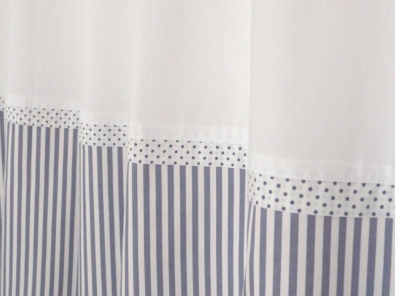 2 Vorhänge Streifen dunkelgrau, edel & schlicht von Le Petit Villa auf DaWanda.com