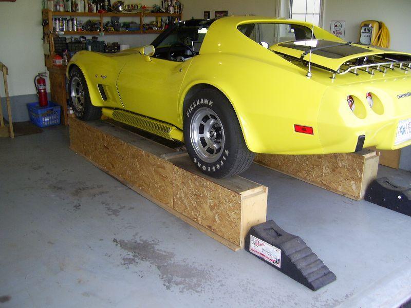 Diy build your own car ramps corvetteforum for Hockliffe garage doors