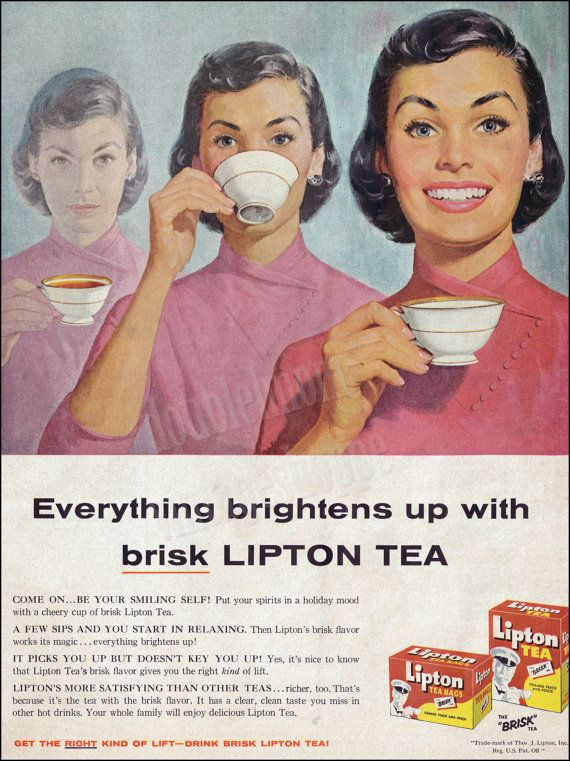 poster Turn to Tea : Vintage advert Wall art poster reproduction.