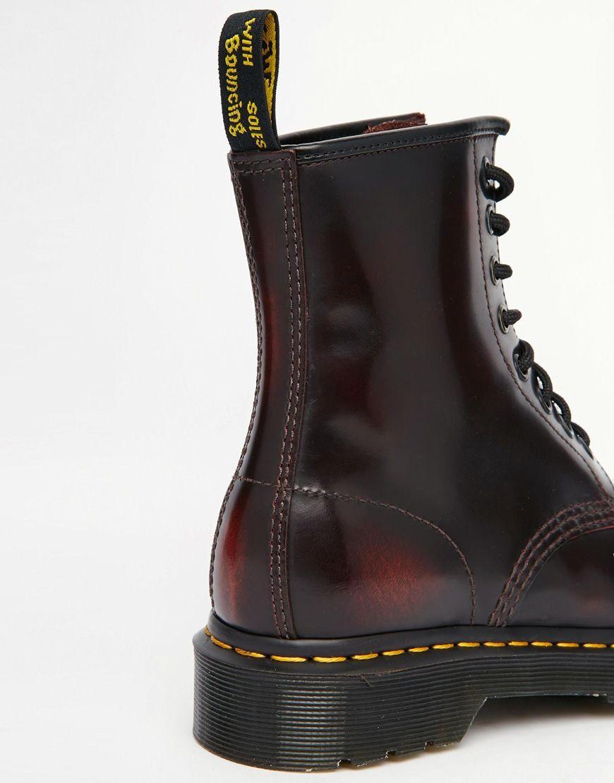 exklusiva skor bra priser super kvalitet Image 3 of Dr Martens 1460 Cherry Red Arcadia 8-Eye Boots | Martens