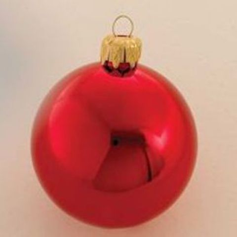 60mm shiny red ball ornament with wire and uv coating Case of 36