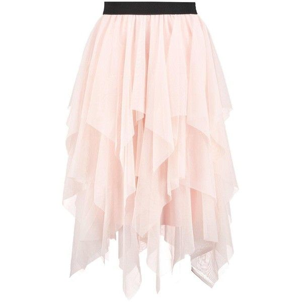 bdeff27ae74ca9 Boohoo Maya Boutique Layered Tulle Full Midi Skirt ($25) ❤ liked on  Polyvore featuring skirts, pleated mini skirt, midi circle skirt, pink skirt,  ...